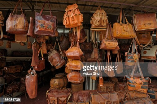 Leather Shoes At Handicraft Market In Gaziantep Stock Photo ...