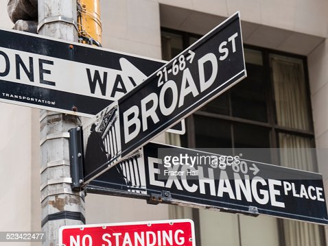 Street sign, Financial District, New York City