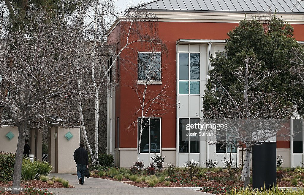 A street sign for 'Hacker Way' is stands at the Facebook headquarters on February 1, 2012 in Menlo Park, California. Facebook is expected to file for its first initial public offering today seeking to raise at least $5 billion.