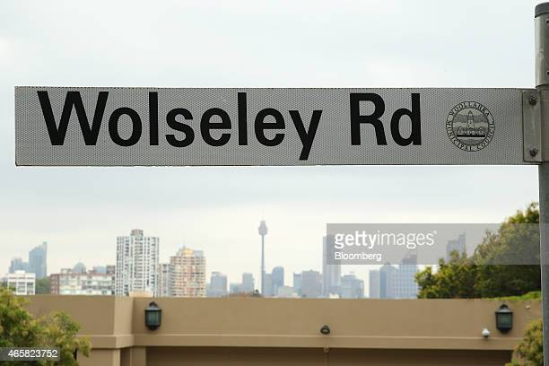 A street sign for Wolseley Road is seen against the city skyline in the suburb of Point Piper in Sydney Australia on Tuesday March 10 2015 Foreigners...
