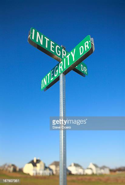 street sign intersection of integrity drive