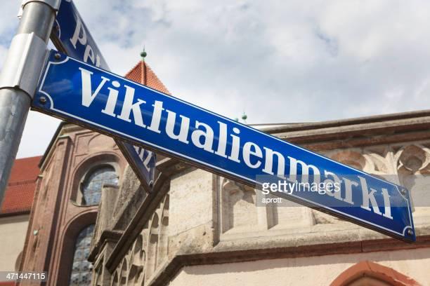 Straßenschild Viktualienmarkt, München