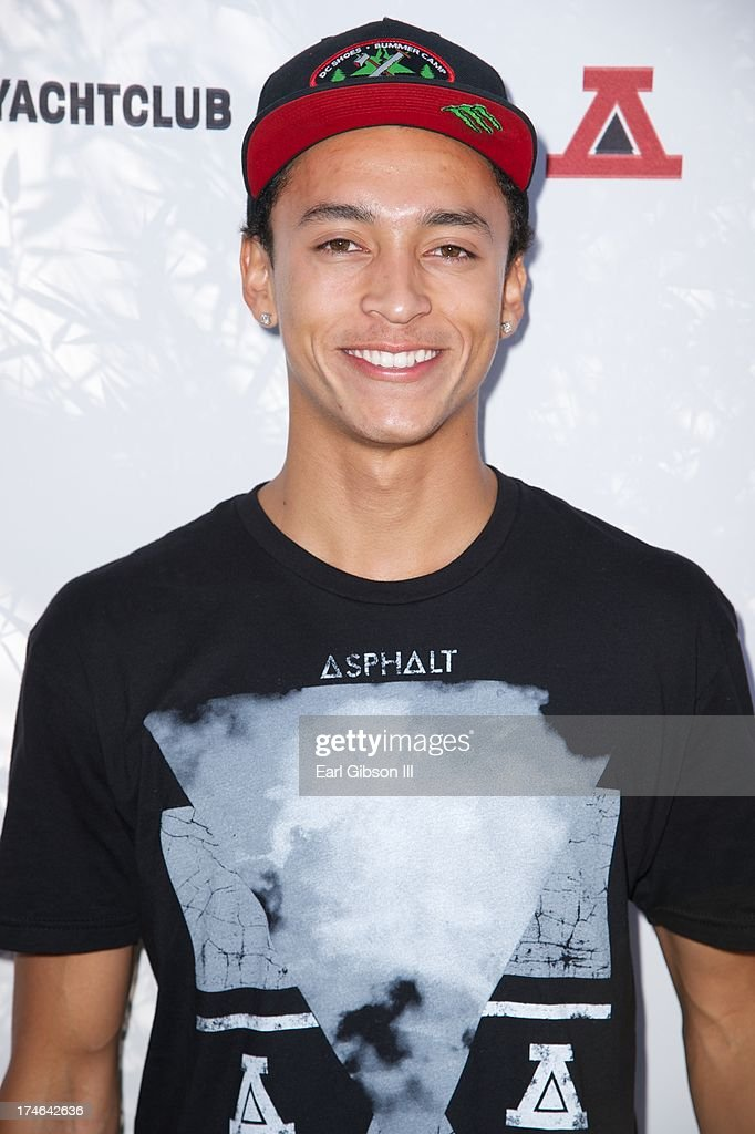 Street Skateboarder Nyjah Houston attends the Asphalt Yacht Clubs launch of their apparel line at Malibu Inn on July 27, 2013 in Malibu, California.
