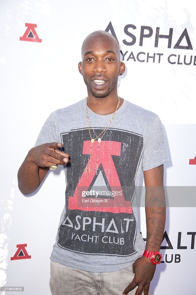 Street Skateboarder Stevie Williams attends the Asphalt Yacht Clubs launch of their apparel line at Malibu Inn on July 27, 2013 in Malibu, California.