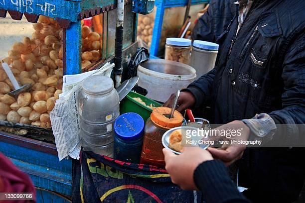 Street snacks in Kathmandu