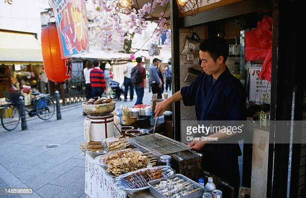 A street stall in the Shibamata district of Tokyo- Japan