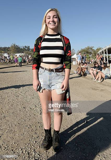 Street Style at The FYF Fest 2013 at Los Angeles State Historic Park on August 24 2013 in Los Angeles California