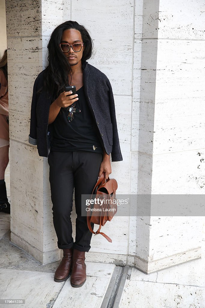 Street style during New York Fashion Week is seen on the streets of Manhattan on September 5, 2013 in New York City.