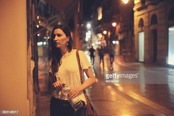 street style fashion at night