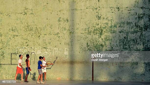 Street tennis in Havana