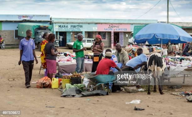 Street trader on a place in Talek on May 17 2017 in Talek Kenya