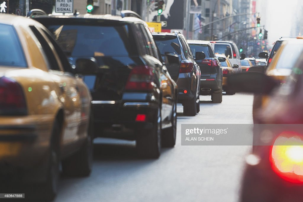 Street traffic, New York City, New York State, USA