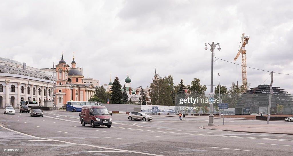 Street Varvarka. On the street moving pedestrians : Stock Photo