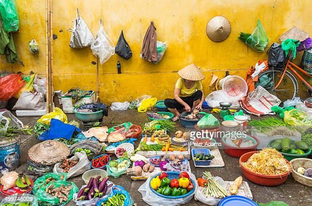 Street vegetable seller, Hanoi, Vietnam