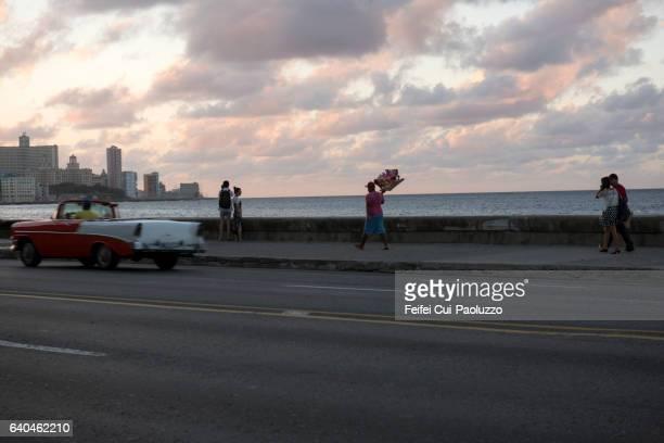 A street vendor at Malecon Havana in Cuba