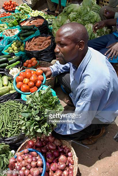 Street vendor at market