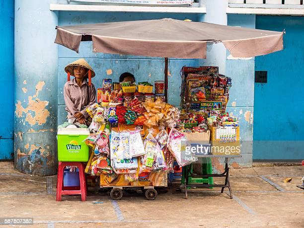 Street Vendor in Ho Chi Minh, Vietnam
