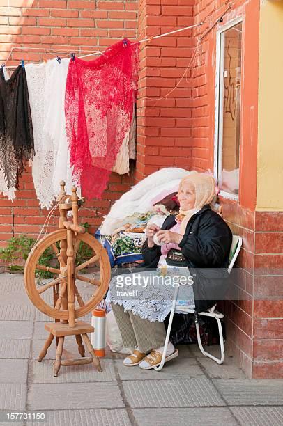 Street vendor in Sergiev Posad, Russia