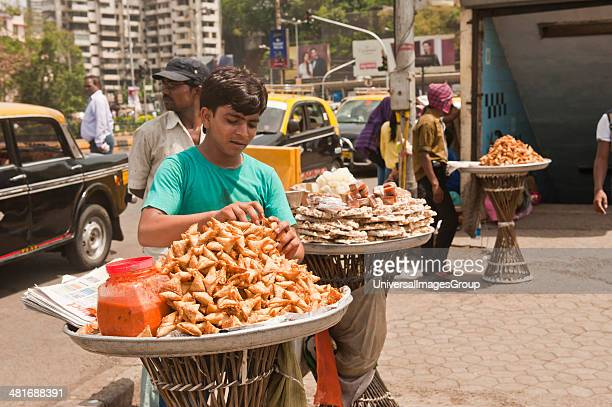 Street vendor selling snacks Haji Ali Juice Center Haji Ali Mumbai Maharashtra India