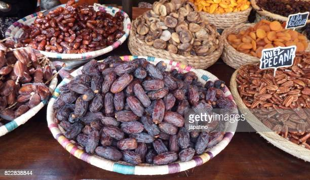 Street vendor with assorted nuts