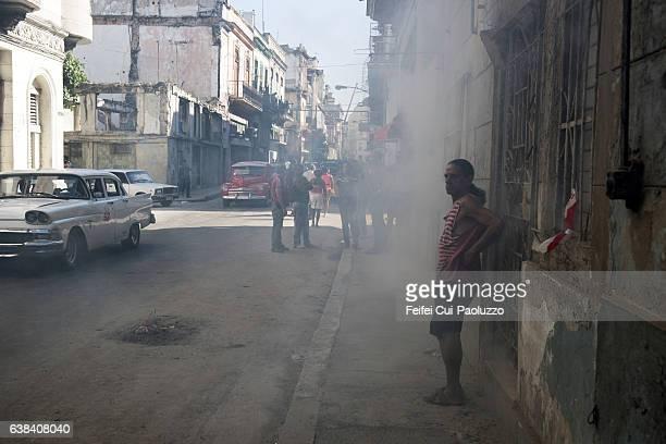 Street view of Centro Havana in Cuba