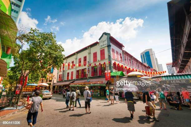 Street view of China town in Singapore