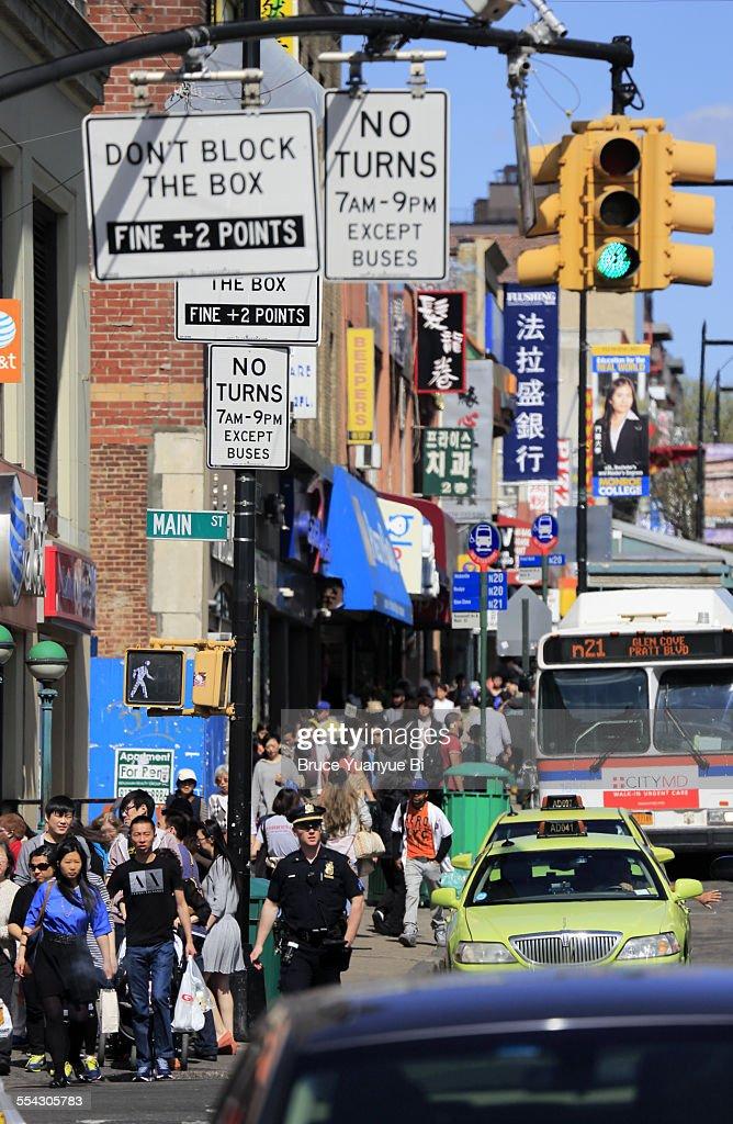 Street view of Flushing Chinatown