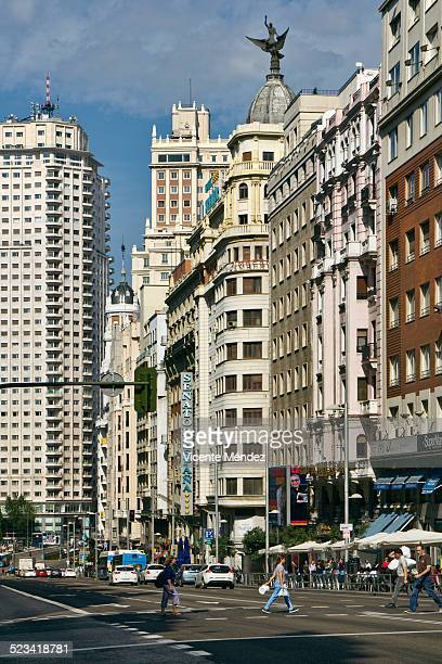 Street view of Gran Via (Madrid)