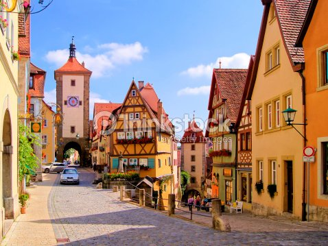Rotemburgo ob der tauber alemania foto de stock thinkstock - Rothenburg ob der tauber alemania ...