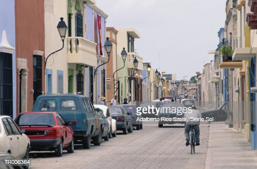 Street with Traffic, Campeche