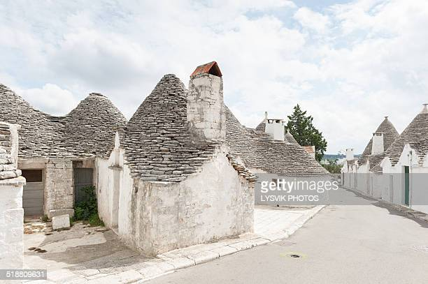 Street with Trulli houses in Alberobello