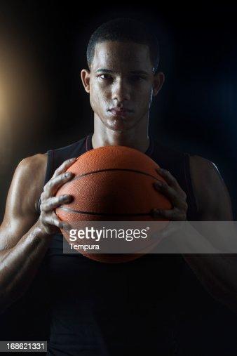 Streetball player's portrait _ vertical