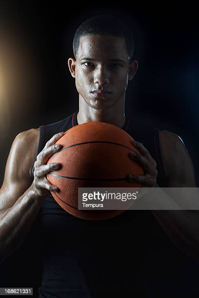 Streetball player's portrait _Vertical