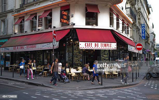 A streetcafe at a corner on July 31 2015 in Paris Frankreich