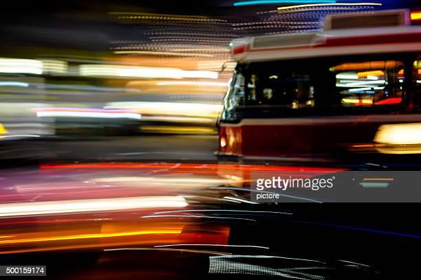 Streetcar in the night