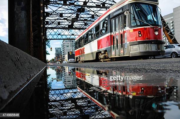 streetcar reflection