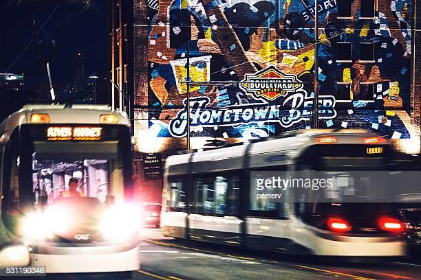 Streetcars in Kansas City.