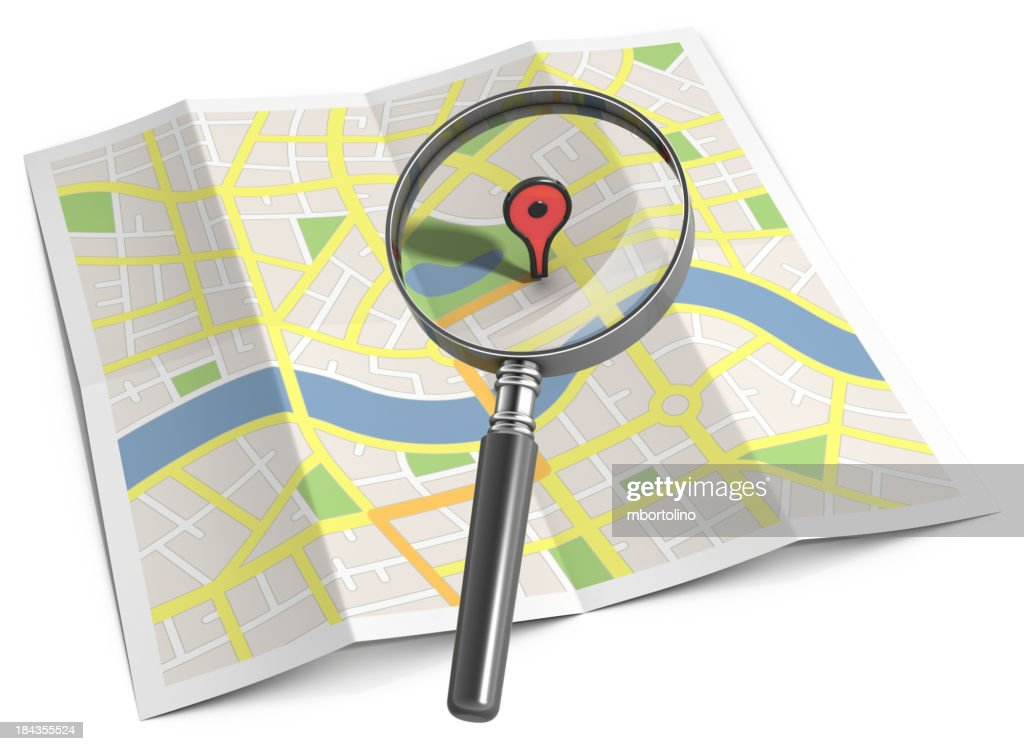 Streetmap search location marker : Stock Photo