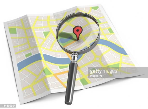 Streetmap Suche Lage marker
