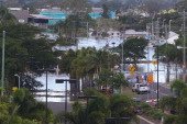 Streets are flooded as parts of southern Queensland experiences record flooding in the wake of Tropical Cyclone Oswald on January 29 2013 in...