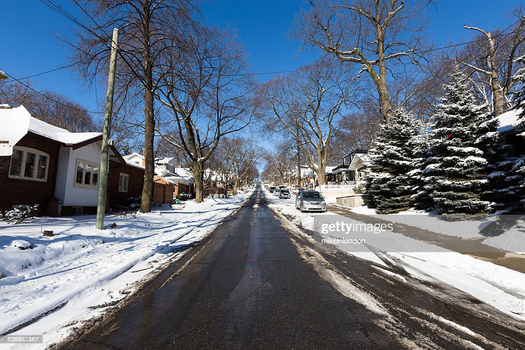 Streets in Toronto in the Winter : Stock Photo