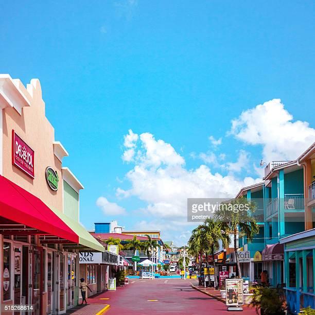 Streets of Caribbean town. St John's, Antigua & Barbuda.