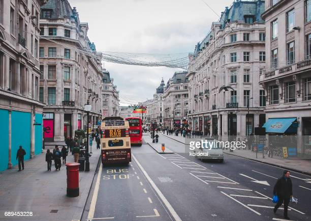 Streets of City of Westminster district during early morning, London, UK