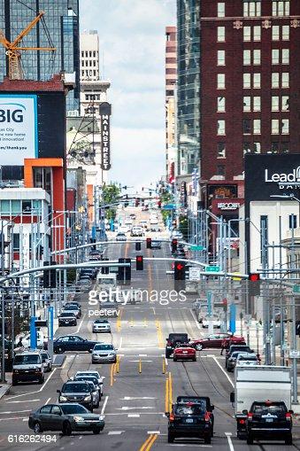 Streets of Kansas City. : Stock Photo