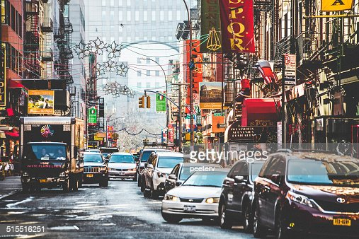 Streets of Little Italy in New York.