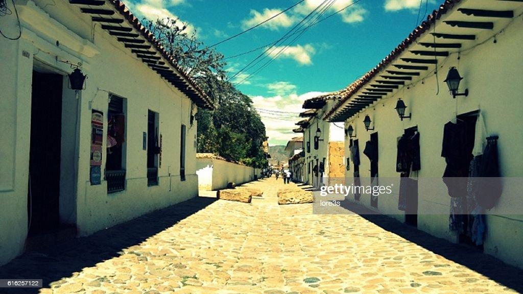 Streets of Villa de Leyva : Stock Photo