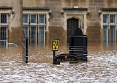 Streets remain flooded and impassable after the nearby river Eden burst it's banks over the weekend in Carlisle Cumbria in north west England on 07...
