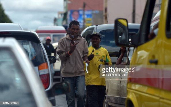 Streets vendors are back to work in Antananarivo on December 21 a day after the elections for a new President in a runoff vote aimed at ending a...