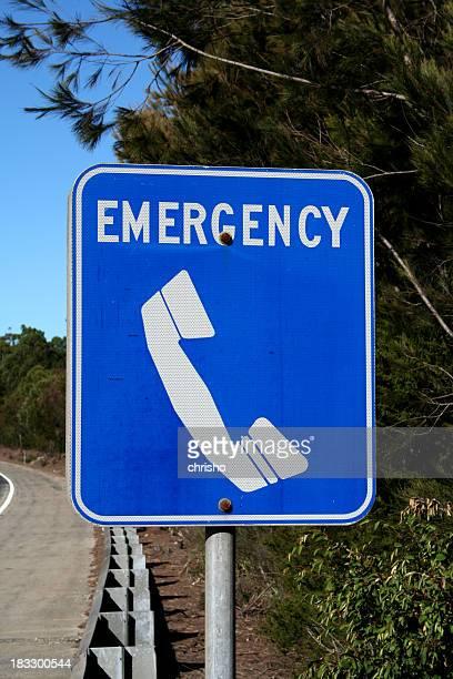 Streetsign: emergency
