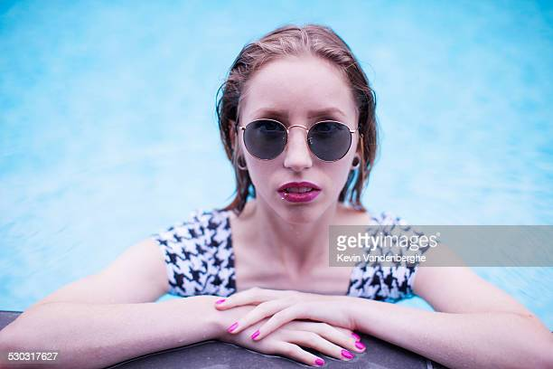 Streetstyle girl in the pool